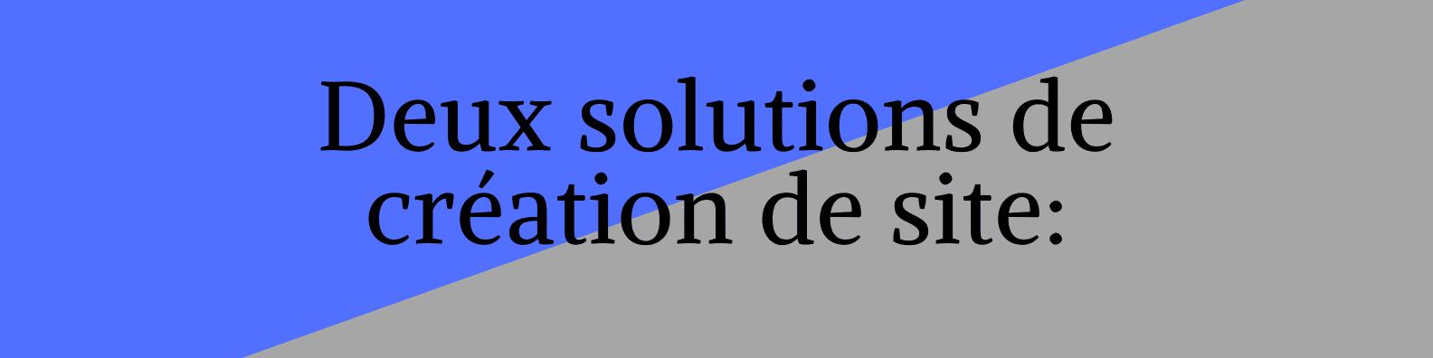 Titre deux solutions